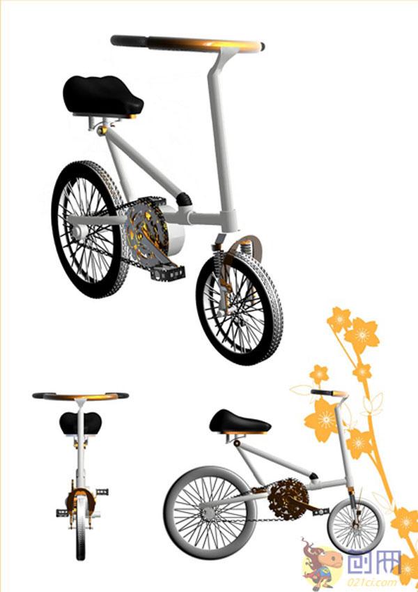 设计分享 产品设计手绘自行车车 > 自行车 科技 设计图展示  自行车